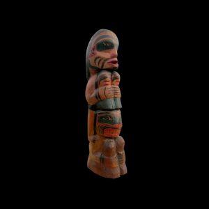 Fine Rare Large Kwakiutl Totem Carving Alert Bay Circa 1920