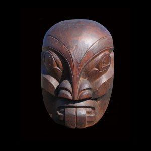 Fine Old Northwest Coast Kwakiutl Chief of the Sea Mask by Chief Henry Hunt
