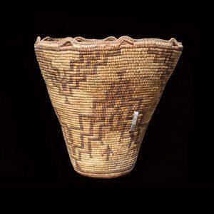 Large Striking Tall Northwest Coast Klickitat Indian Fully Imbricated Basket 19th Century