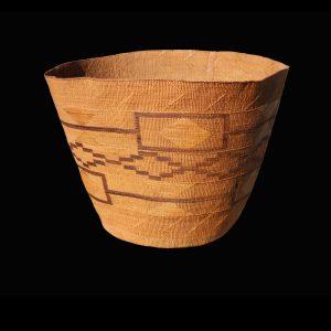 Large Striking Tlingit Storage Basket Circa 1890