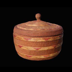 Large Super Fine Knob Top Tlingit Basket Circa 1890