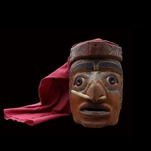 Rare Nuu-chah-nulth Dance Mask Circa 1890