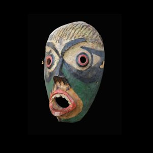 Fine Rare Kwakiutl Ceremonial Alder Wood Speakers Mask Circa 1880