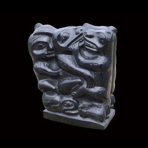 Rare Haida Argillite Figural Group Circa 1870