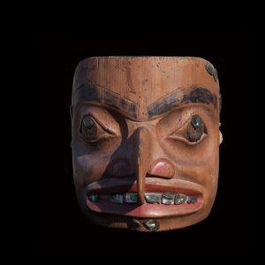 Fine Rare Tlingit or Tsimshian Hawk Man Mask Circa 1890