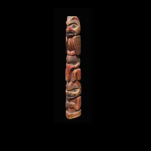 A Fine Early Tlingit Hollow back Cedar Totem Pole Circa 1890