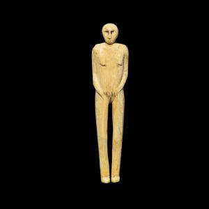 Rare Eskimo Ivory Female Figure 19Th Century