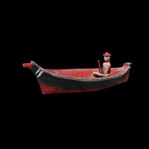 Very Rare Large Important Nuu-chah-nulth Figural Canoe Circa 1890