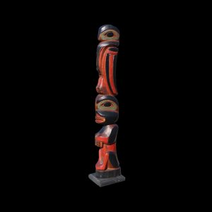 A fine Rare Tlingit Totem Pole Circa 1890 By James Rudolph (1858-1933)