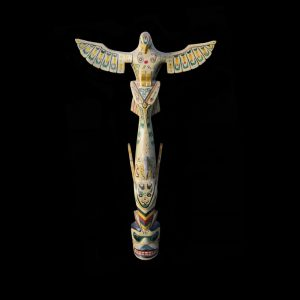 Rare Northwest Coast Kwakiutl Cowichan Totem Pole Circa 1930