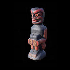 Rare old Northwest Coast Kwakiutl Dzunukwa Tsonoqua Cedar Totem Figure