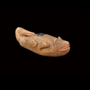 Rare Tlingit Ceremonial Figural Smoking Pipe Circa 1870
