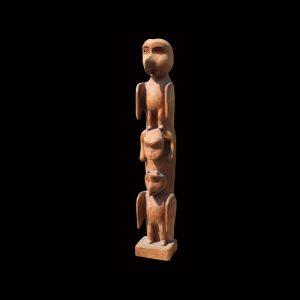 Fine Rare Early Tlingit Hollow Back Totem Pole Circa 1890
