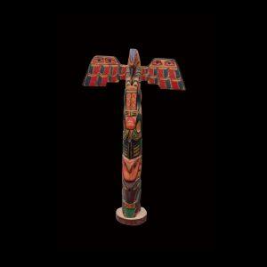 Fine Rare Kwakiutl Indian Cedar Totem Pole Blunden Harbour George Walkus Circa 1920