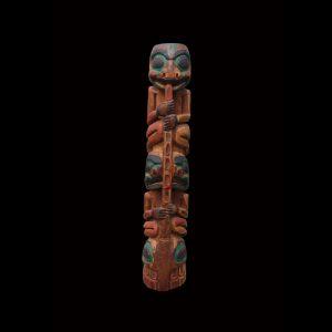 Rare Tlingit Hollow Back Cedar Totem Pole Circa 1910 James Watson (1890-1930)