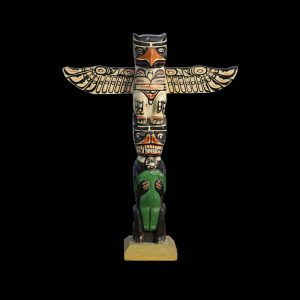 Fine Rare Kwakiutl Indian Cedar Totem Pole Alert Bay Circa 1920 #2