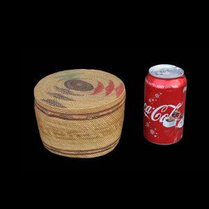 Very Fine Large Nuu-chah-nulth Makah Lidded Trinket Basket Circa 1900