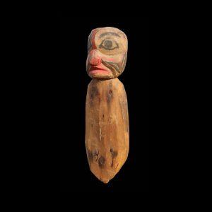 Rare Kwakiutl Ceremonial Hamatsa Puppetry Figure Circa 1890