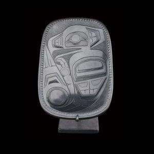 Fine Haida Argillite Eagle Platter Reg Davidson 1975