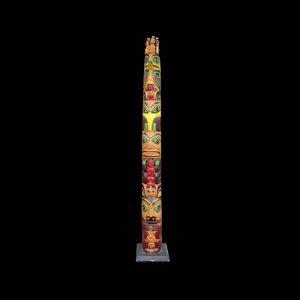 Fine Large Tsimshian Cedar Totem Pole Titus Campbell(1893-1966)