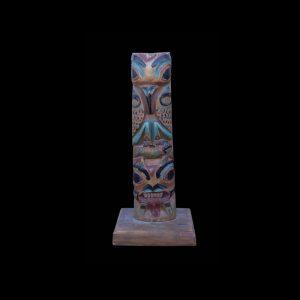 Fine Rare Early Tlingit Hollow Back Totem Pole Circa 1900